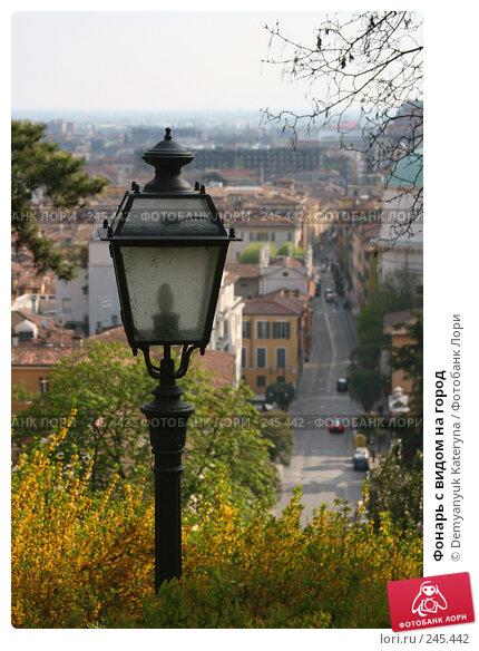 Фонарь с видом на город, фото № 245442, снято 6 апреля 2008 г. (c) Demyanyuk Kateryna / Фотобанк Лори