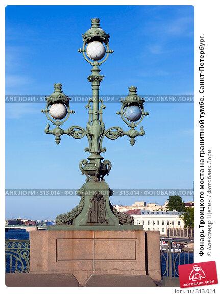 Купить «Фонарь Троицкого моста на гранитной тумбе. Санкт-Петербург.», эксклюзивное фото № 313014, снято 24 мая 2008 г. (c) Александр Щепин / Фотобанк Лори