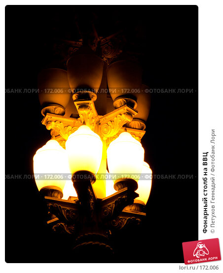 Купить «Фонарный столб на ВВЦ», фото № 172006, снято 19 июля 2007 г. (c) Петухов Геннадий / Фотобанк Лори