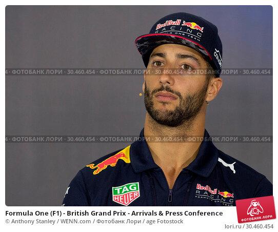 Formula One (F1) - British Grand Prix - Arrivals & Press Conference (2017 год). Редакционное фото, фотограф Anthony Stanley / WENN.com / age Fotostock / Фотобанк Лори