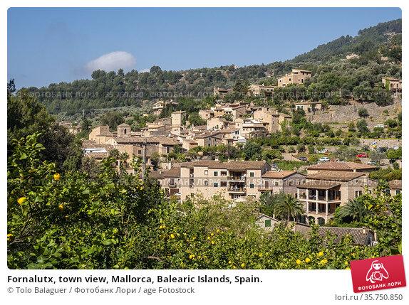 Fornalutx, town view, Mallorca, Balearic Islands, Spain. Стоковое фото, фотограф Tolo Balaguer / age Fotostock / Фотобанк Лори