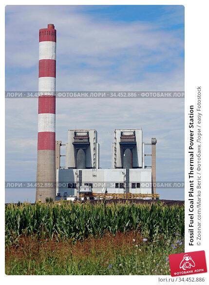 Fossil Fuel Coal Plant Thermal Power Station. Стоковое фото, фотограф Zoonar.com/Marko Beric / easy Fotostock / Фотобанк Лори