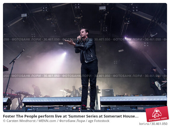 Foster The People perform live at 'Summer Series at Somerset House... (2017 год). Редакционное фото, фотограф Carsten Windhorst / WENN.com / age Fotostock / Фотобанк Лори