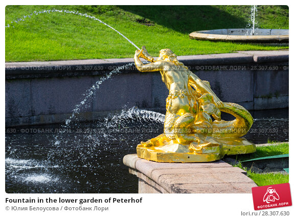 Купить «Fountain in the lower garden of Peterhof», фото № 28307630, снято 11 июля 2016 г. (c) Юлия Белоусова / Фотобанк Лори