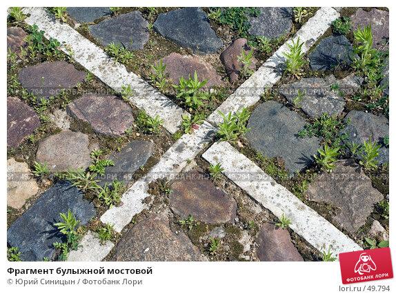 Купить «Фрагмент булыжной мостовой», фото № 49794, снято 27 мая 2007 г. (c) Юрий Синицын / Фотобанк Лори