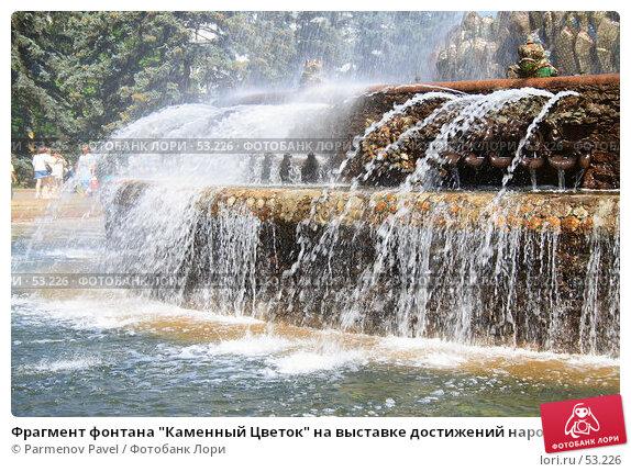 """Фрагмент фонтана """"Каменный Цветок"""" на выставке достижений народного хозяйства, фото № 53226, снято 12 июня 2007 г. (c) Parmenov Pavel / Фотобанк Лори"""
