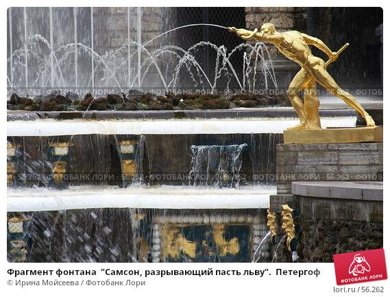 """Фрагмент фонтана  """"Самсон, разрывающий пасть льву"""".  Петергоф, эксклюзивное фото № 56262, снято 25 июня 2006 г. (c) Ирина Мойсеева / Фотобанк Лори"""