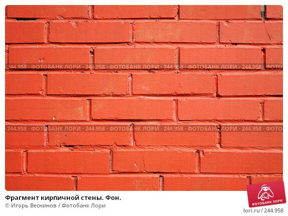 Купить «Фрагмент кирпичной стены. Фон.», фото № 244958, снято 6 апреля 2008 г. (c) Игорь Веснинов / Фотобанк Лори