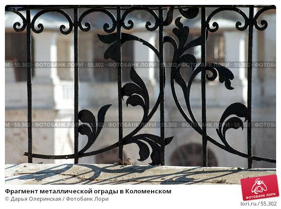 Фрагмент металлической ограды в Коломенском, фото № 55302, снято 13 апреля 2006 г. (c) Дарья Олеринская / Фотобанк Лори