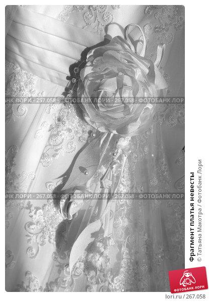 Фрагмент платья невесты, фото № 267058, снято 6 марта 2008 г. (c) Татьяна Макотра / Фотобанк Лори