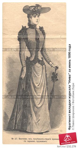 """Фрагмент вкладки журнала """"Нива"""" за июнь 1890 года, иллюстрация № 232278 (c) Павел Широков / Фотобанк Лори"""