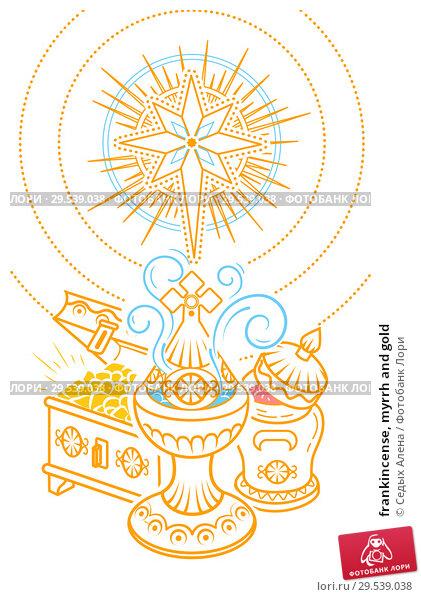 Купить «frankincense, myrrh and gold», иллюстрация № 29539038 (c) Седых Алена / Фотобанк Лори