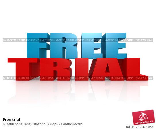 Купить «Free trial», фото № 12473854, снято 20 апреля 2019 г. (c) PantherMedia / Фотобанк Лори