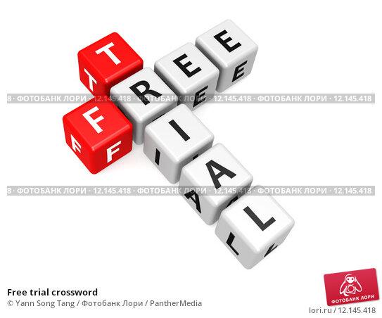 Купить «Free trial crossword», фото № 12145418, снято 22 апреля 2019 г. (c) PantherMedia / Фотобанк Лори