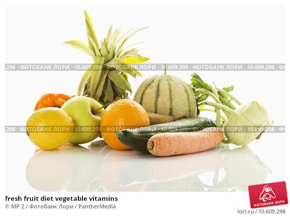 fresh fruit diet vegetable vitamins. Стоковое фото, фотограф MP 2 / PantherMedia / Фотобанк Лори