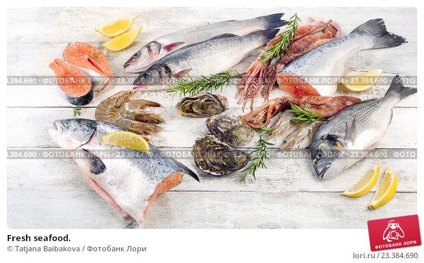 Купить «Fresh seafood.», фото № 23384690, снято 15 июля 2016 г. (c) Tatjana Baibakova / Фотобанк Лори
