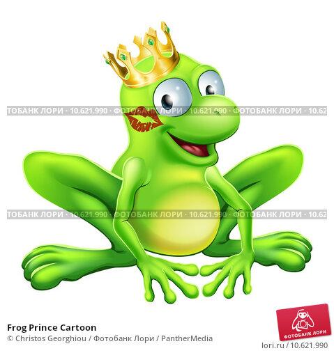 Frog Prince Cartoon. Стоковая иллюстрация, иллюстратор Christos Georghiou / PantherMedia / Фотобанк Лори