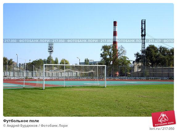 Купить «Футбольное поле», фото № 217050, снято 30 сентября 2007 г. (c) Андрей Бурдюков / Фотобанк Лори