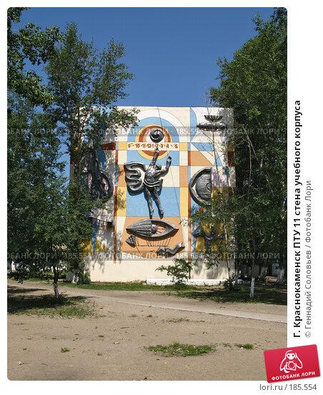 Г. Краснокаменск ПТУ 11 стена учебного корпуса, фото № 185554, снято 30 июля 2007 г. (c) Геннадий Соловьев / Фотобанк Лори