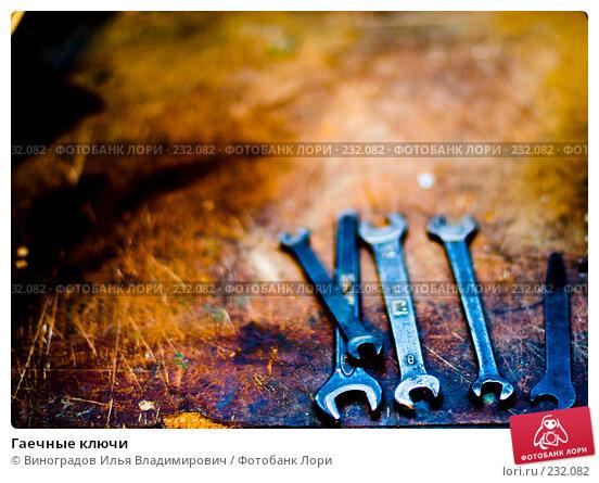 Купить «Гаечные ключи», фото № 232082, снято 25 декабря 2007 г. (c) Виноградов Илья Владимирович / Фотобанк Лори