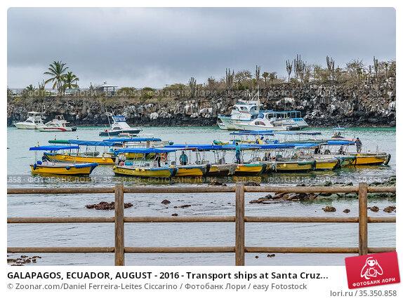 GALAPAGOS, ECUADOR, AUGUST - 2016 - Transport ships at Santa Cruz... Стоковое фото, фотограф Zoonar.com/Daniel Ferreira-Leites Ciccarino / easy Fotostock / Фотобанк Лори