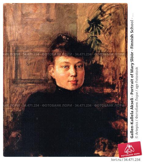 Gallen-Kallela Akseli - Portrait of Mary Slöör - Finnish School - ... Редакционное фото, фотограф Artepics / age Fotostock / Фотобанк Лори