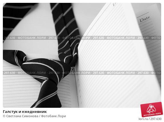 Купить «Галстук и ежедневник», фото № 297630, снято 22 мая 2008 г. (c) Светлана Симонова / Фотобанк Лори
