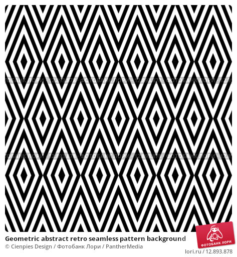 Купить «Geometric abstract retro seamless pattern background», иллюстрация № 12893878 (c) PantherMedia / Фотобанк Лори