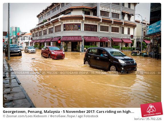 Georgetown, Penang, Malaysia - 5 November 2017: Cars riding on high... Стоковое фото, фотограф Zoonar.com/Loes Kieboom / age Fotostock / Фотобанк Лори