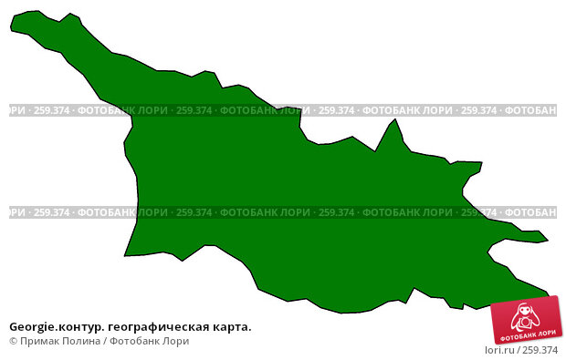 Georgie.контур. географическая карта., иллюстрация № 259374 (c) Примак Полина / Фотобанк Лори