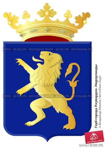 Купить «Герб города Леуварден. Нидерланды», иллюстрация № 30925370 (c) Владимир Макеев / Фотобанк Лори