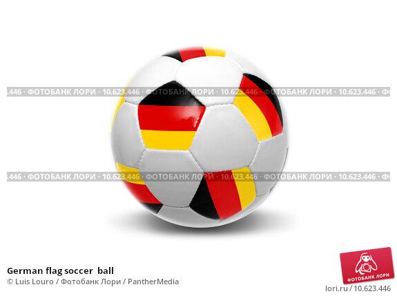 German flag soccer  ball. Стоковое фото, фотограф Luis Louro / PantherMedia / Фотобанк Лори