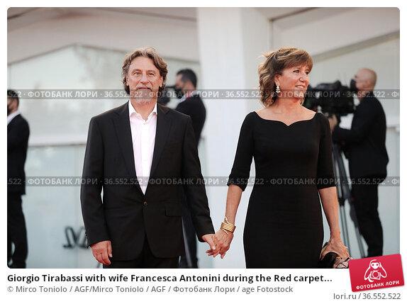 Giorgio Tirabassi with wife Francesca Antonini during the Red carpet... Редакционное фото, фотограф Mirco Toniolo / AGF/Mirco Toniolo / AGF / age Fotostock / Фотобанк Лори