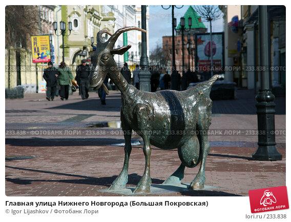 Главная улица Нижнего Новгорода (Большая Покровская), фото № 233838, снято 24 марта 2008 г. (c) Igor Lijashkov / Фотобанк Лори