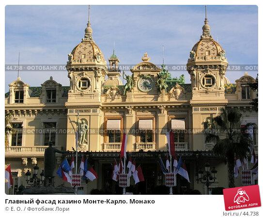 Главный фасад казино Монте-Карло. Монако, фото № 44738, снято 6 марта 2005 г. (c) Екатерина Овсянникова / Фотобанк Лори