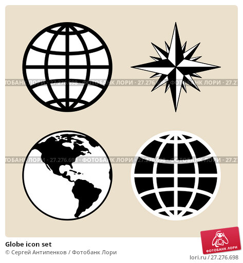 Купить «Globe icon set», иллюстрация № 27276698 (c) Сергей Антипенков / Фотобанк Лори