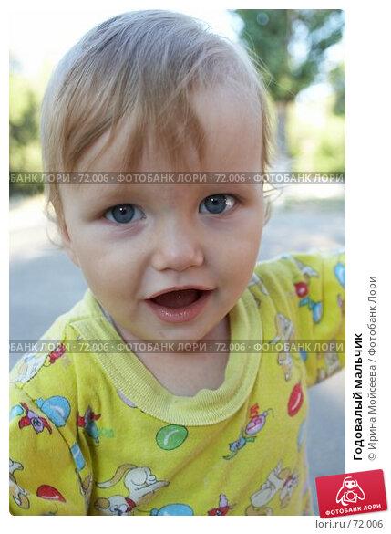Купить «Годовалый мальчик», фото № 72006, снято 20 июля 2006 г. (c) Ирина Мойсеева / Фотобанк Лори