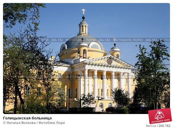 Голицынская больница, эксклюзивное фото № 266182, снято 29 апреля 2008 г. (c) Наталья Волкова / Фотобанк Лори