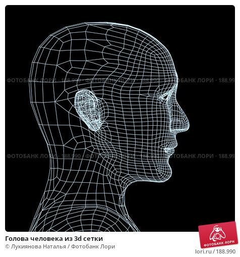 Голова человека из 3d сетки, иллюстрация № 188990 (c) Лукиянова Наталья / Фотобанк Лори