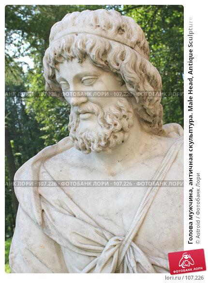 Голова мужчина, античная скульптура. Male Head, Antique Sculpture, фото № 107226, снято 31 июля 2005 г. (c) Astroid / Фотобанк Лори