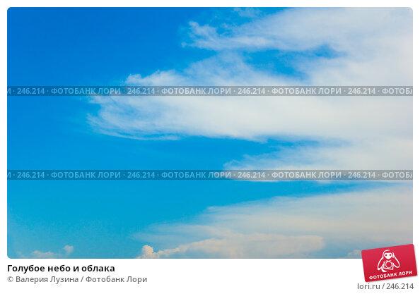 Голубое небо и облака, фото № 246214, снято 30 июня 2007 г. (c) Валерия Потапова / Фотобанк Лори