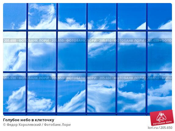Голубое небо в клеточку, фото № 205650, снято 15 февраля 2008 г. (c) Федор Королевский / Фотобанк Лори