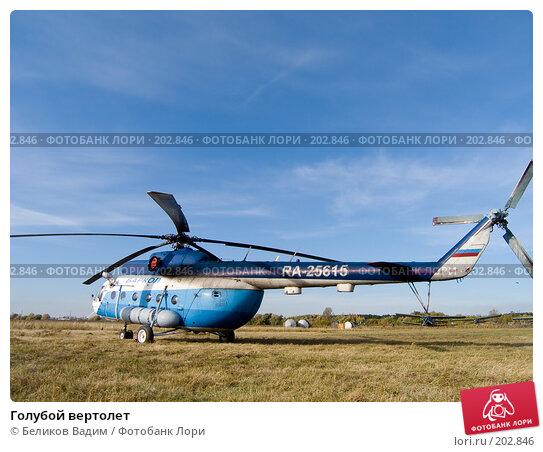 Голубой вертолет, фото № 202846, снято 21 января 2017 г. (c) Беликов Вадим / Фотобанк Лори