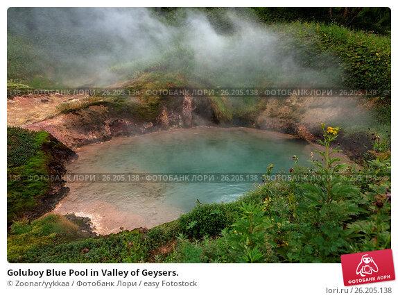 Купить «Goluboy Blue Pool in Valley of Geysers.», фото № 26205138, снято 25 июня 2019 г. (c) easy Fotostock / Фотобанк Лори