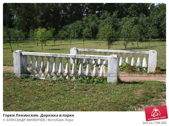Горки Ленинские. Дорожка в парке, фото № 109302, снято 21 июля 2007 г. (c) АЛЕКСАНДР МИХЕИЧЕВ / Фотобанк Лори