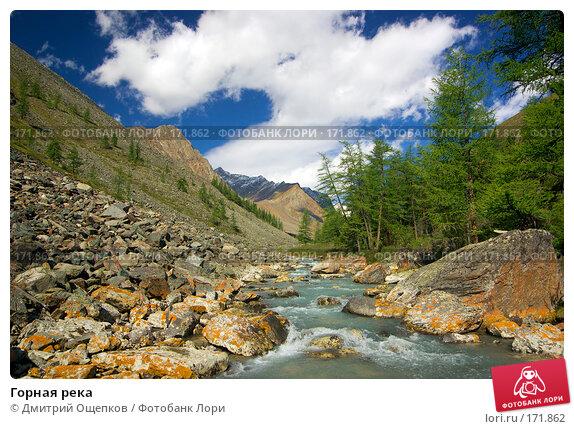 Горная река, фото № 171862, снято 16 августа 2007 г. (c) Дмитрий Ощепков / Фотобанк Лори