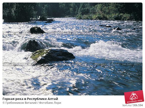 Горная река в Республике Алтай, фото № 306594, снято 3 декабря 2016 г. (c) Гребенников Виталий / Фотобанк Лори