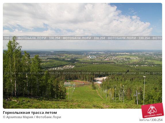 Горнолыжная трасса летом, фото № 330254, снято 15 июня 2008 г. (c) Архипова Мария / Фотобанк Лори