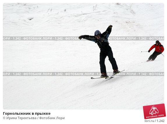 Горнолыжник в прыжке, эксклюзивное фото № 1242, снято 22 февраля 2006 г. (c) Ирина Терентьева / Фотобанк Лори