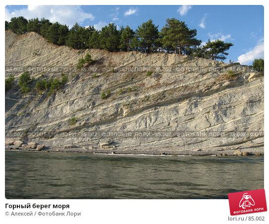 Горный берег моря, фото № 85002, снято 20 августа 2007 г. (c) Алексей / Фотобанк Лори